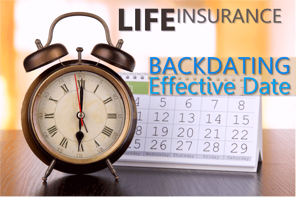 Backdating insurance coverage