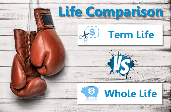 Term life versus whole life insurance comparison